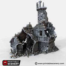 Load image into Gallery viewer, The Lost Islands - Ruined Navigator's Guild - 15mm 28mm 32mm Wargaming Terrain D&D, DnD, Pathfinder, SW Legion, Warhammer, 40k, Pirates