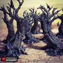 Load image into Gallery viewer, Dwarves, Elves and Demons - Vomiting Trees 15mm 28mm 32mm Wargaming Terrain D&D, Pathfinder, SW Legion, Warhammer, 40k