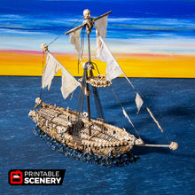 Load image into Gallery viewer, The Lost Islands - Undead Sloop - 15mm 28mm 32mm Wargaming Terrain D&D, DnD, Pathfinder, SW Legion, Warhammer, 40k, Pirates