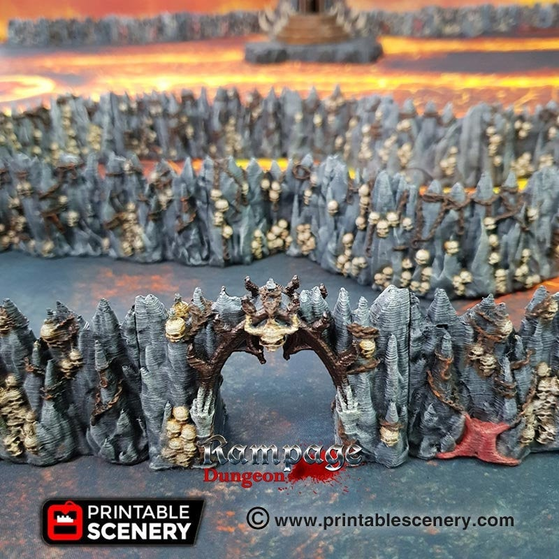 Dwarves, Elves and Demons - Caverns of Torment 15mm 28mm 32mm Wargaming Terrain D&D, DnD, Pathfinder, SW Legion, Warhammer, 40k
