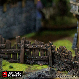 The Lost Islands - Ye Old Fence 15mm 28mm 32mm Wargaming Terrain D&D, DnD, Pathfinder, SW Legion, Warhammer, 40k, Pirates
