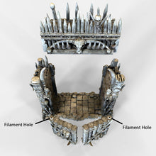 Load image into Gallery viewer, Entry Gates for Tribal Ramparts - 28mm 32mm The Lost Islands Wargaming Terrain D&D, Pathfinder, SW Legion, Warhammer, 40k, Pirates