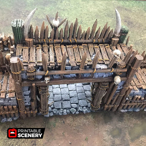 Entry Gates for Tribal Ramparts - 28mm 32mm The Lost Islands Wargaming Terrain D&D, Pathfinder, SW Legion, Warhammer, 40k, Pirates