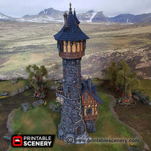 Load image into Gallery viewer, Dwarves, Elves and Demons - Evil Sorcerer's Tower 28mm 32mm Wargaming Terrain D&D, DnD, Pathfinder, SW Legion, Warhammer, 40k, Sigmar