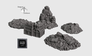 Depths of the Savage Atoll - Treasure Pack 28mm 32mm Wargaming Terrain D&D, DnD, Pathfinder, SW Legion, Warhammer