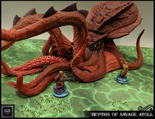Load image into Gallery viewer, Depths of the Savage Atoll - Underwater Kraken 15mm 28mm 32mm Wargaming Terrain D&D, DnD, Pathfinder, SW Legion, Warhammer