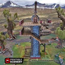 Load image into Gallery viewer, Dwarves, Elves and Demons - Ironhelm Skydock 28mm 32mm Wargaming Terrain D&D, DnD, Pathfinder, SW Legion, Warhammer, 40k