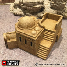 Load image into Gallery viewer, Future Buildings - Adobe Hut D 28mm 32mm Wargaming Terrain D&D, Pathfinder, SW Legion, Warhammer, 40k