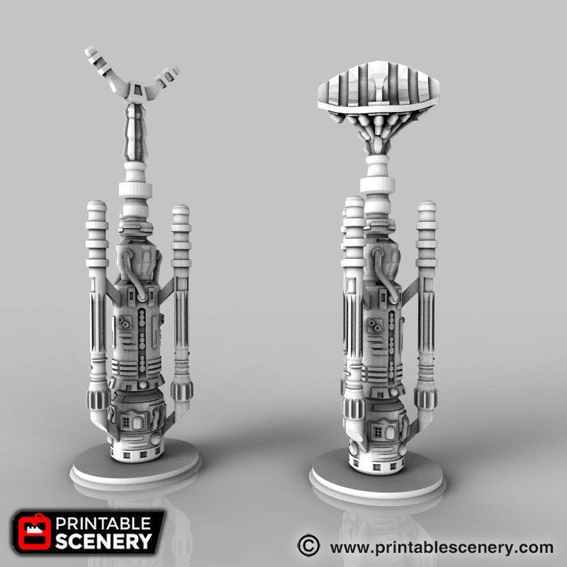 Future Buildings - Sci-Fi Water Vaporator 28mm 32mm Wargaming Terrain D&D, DnD, Pathfinder, SW Legion, Warhammer, 40k