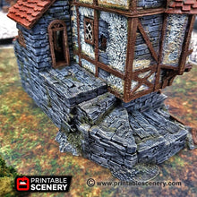 Load image into Gallery viewer, Dwarves, Elves and Demons - Ruined Water Mill 15mm 28mm 32mm Wargaming Terrain D&D, DnD, Pathfinder, SW Legion, Warhammer, 40k, Sigmar