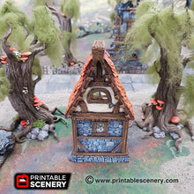 Load image into Gallery viewer, The Lost Islands - Ruined Small Cottage 28mm 32mm Wargaming Terrain D&D, DnD, Pathfinder, SW Legion, Warhammer, 40k, Sigmar