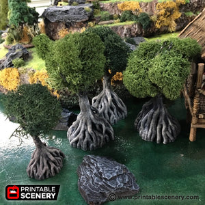 Time Warp - Mangrove Tree 28mm 32mm Wargaming Terrain D&D, DnD, Pathfinder, SW Legion, Warhammer, 40k