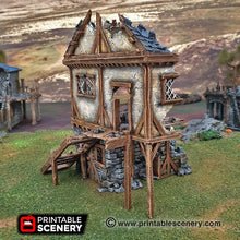 Load image into Gallery viewer, Winterdale - Ruined Townhouse 28mm 32mm Wargaming Terrain D&D, DnD, Pathfinder, SW Legion, Warhammer, 40k, Sigmar