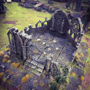 Rampage - Ruined Gothic Abbey 28mm 32mm Wargaming Terrain D&D, DnD, Pathfinder, SW Legion, Warhammer, 40k, Sigmar