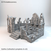 Load image into Gallery viewer, Rampage - Ruined Gothic Abbey 28mm 32mm Wargaming Terrain D&D, DnD, Pathfinder, SW Legion, Warhammer, 40k, Sigmar