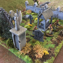 Load image into Gallery viewer, Winterdale - Cemetery 28mm 32mm Wargaming Terrain D&D, DnD, Pathfinder, SW Legion, Warhammer, 40k, Sigmar