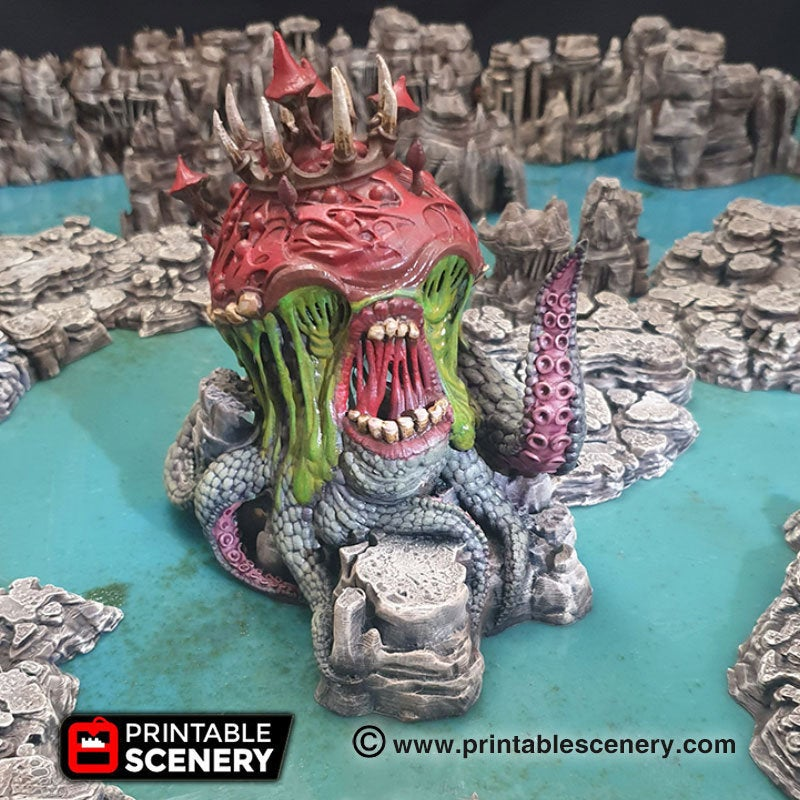 Clorehaven and the Goblin Grotto - Gloom Creeper 15mm 28mm 32mm 42mm Wargaming Terrain D&D, DnD, Pathfinder, SW Legion, Warhammer, 40k