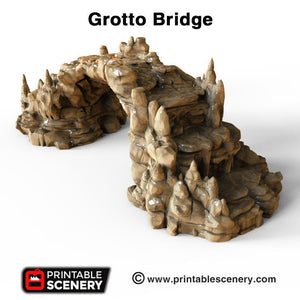 Clorehaven and the Goblin Grotto - Grotto Bridge 15mm 28mm 32mm Wargaming Terrain D&D, DnD, Pathfinder, SW Legion, Warhammer, 40k, Sigmar