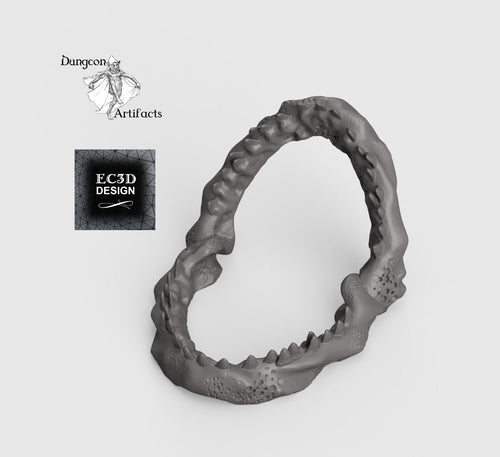 Leviathan Jaw Remains - Depths of the Savage Atoll 15mm 28mm 32mm 42mm Wargaming Terrain D&D, DnD, Pathfinder, SW Legion, Warhammer
