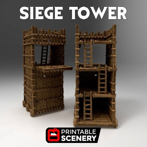 Time Warp - Siege Tower 28mm 32mm Wargaming Terrain D&D, DnD, Pathfinder, SW Legion, Warhammer, 40k