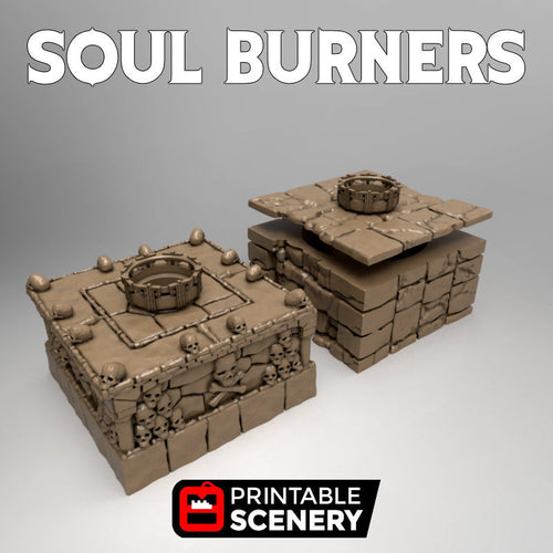 Time Warp - Soul Burners 28mm 32mm Wargaming Terrain D&D, DnD, Pathfinder, SW Legion, Warhammer, 40k
