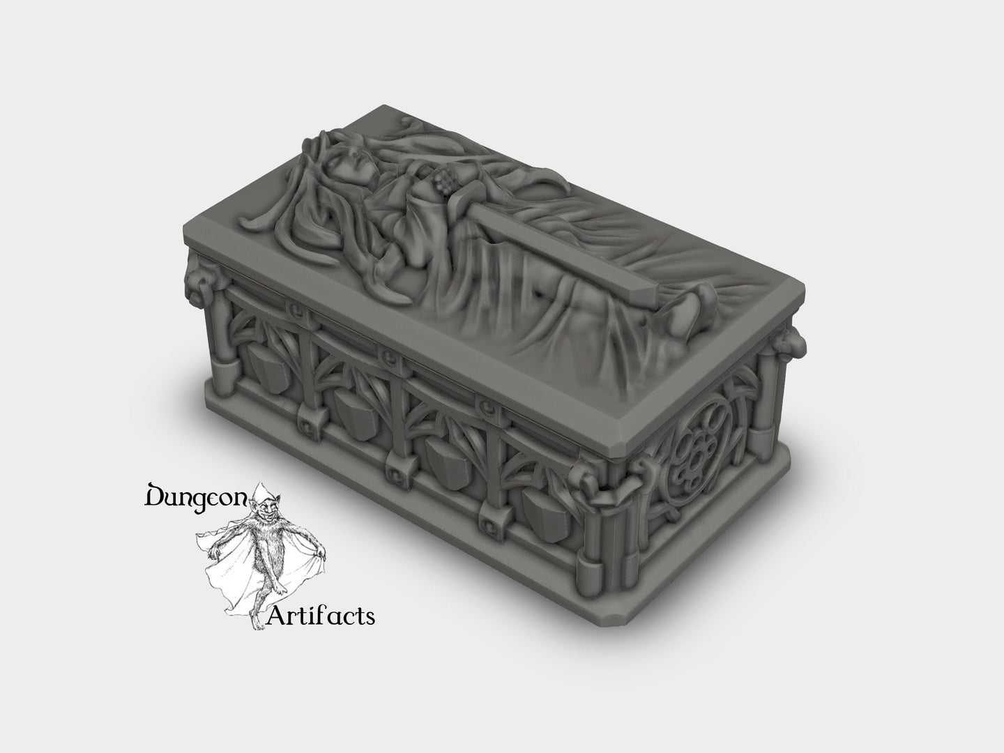 Dragonlock Ultimate - Sarcophagus 28mm 32mm Wargaming Terrain D&D, DnD, Pathfinder, SW Legion, Warhammer, 40k