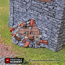 Load image into Gallery viewer, Rubble Set - 15mm 28mm 32mm Clorehaven and the Goblin Grotto Wargaming Tabletop Scatter Terrain D&D, DnD, Pathfinder, Warhammer, 40k