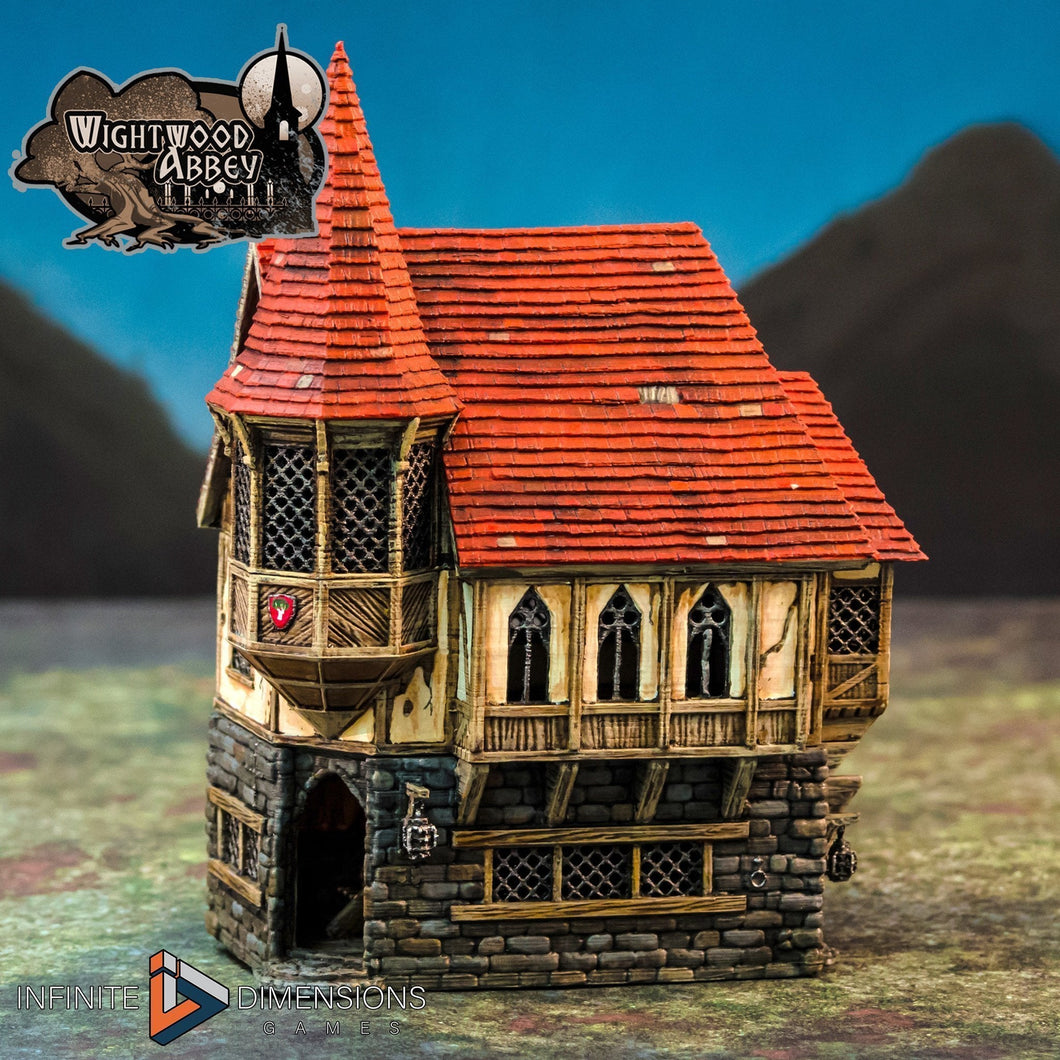 Abbot's House 28mm 32mm Wightwood Abbey Wargaming Terrain D&D, DnD, Pathfinder, SW Legion, Warhammer 40k