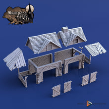 Load image into Gallery viewer, Stables 28mm 32mm Wightwood Abbey Wargaming Terrain D&D, DnD, Pathfinder, SW Legion, Warhammer 40k