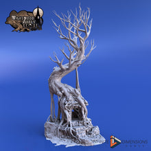 Load image into Gallery viewer, Ancient Shrine Tree 28mm Wightwood Abbey Wargaming Terrain D&D, DnD, Pathfinder, SW Legion, Warhammer 40k