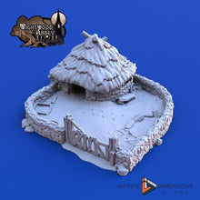 Load image into Gallery viewer, Porc Sty 28mm 32mm Pig Wightwood Abbey Wargaming Terrain D&D, DnD, Pathfinder, SW Legion, Warhammer 40k