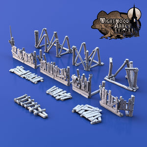 Improvised Defence Gantries 28mm 32mm Wightwood Abbey Wargaming Terrain D&D, DnD, Pathfinder, SW Legion, Warhammer 40k