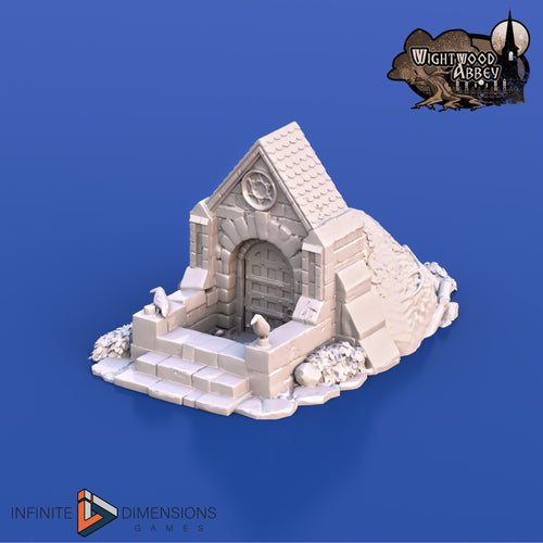 Crypt Entrance 28mm 32mm Wightwood Abbey Wargaming Terrain D&D, DnD, Pathfinder, SW Legion, Warhammer 40k