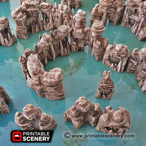 Clorehaven and the Goblin Grotto - Grotto Walls 15mm 28mm 32mm Wargaming Terrain D&D, DnD, Pathfinder, SW Legion, Warhammer, 40k