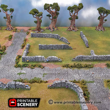 Load image into Gallery viewer, Clorehaven and the Goblin Grotto - Schist Stone Fences 15mm 28mm Wargaming Terrain D&D, DnD, Pathfinder, SW Legion, Warhammer, 40k
