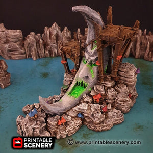 Clorehaven and the Goblin Grotto - Moon Shrine 15mm 28mm 32mm Wargaming Terrain D&D, DnD, Pathfinder, SW Legion, Warhammer, 40k