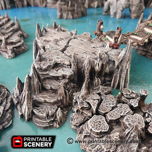 Raised Caverns - 15mm 28mm 32mm Clorehaven and the Goblin Grotto Wargaming Terrain D&D, DnD, Pathfinder, SW Legion, Warhammer, 40k