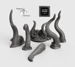 Depths of the Savage Atoll - Breaching Kraken 15mm 28mm 32mm Wargaming Terrain D&D, DnD, Pathfinder, SW Legion, Warhammer