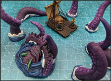 Load image into Gallery viewer, Depths of the Savage Atoll - Breaching Kraken 15mm 28mm 32mm Wargaming Terrain D&D, DnD, Pathfinder, SW Legion, Warhammer