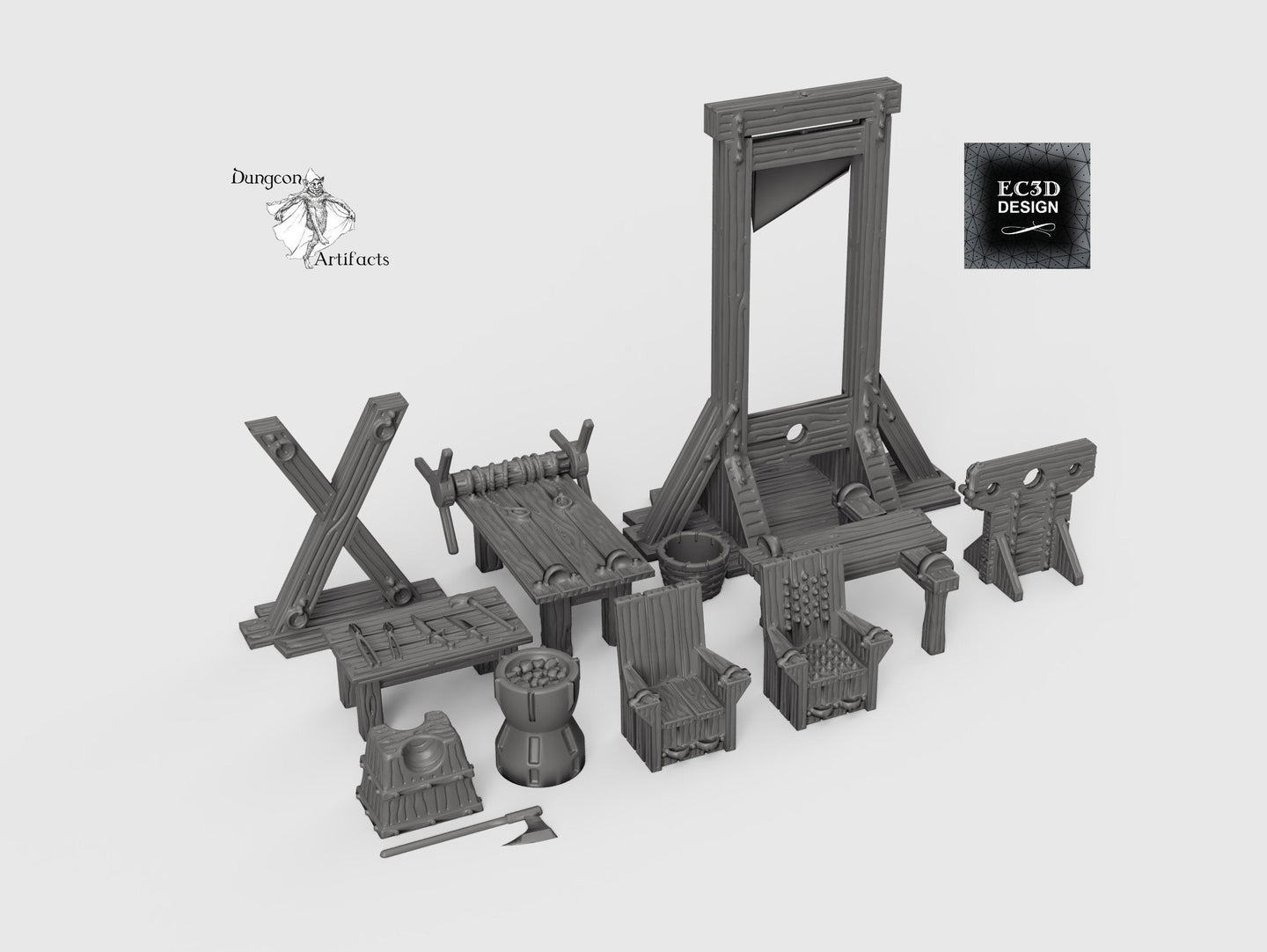 Torture Chamber Accessories - 28mm 32mm Hero's Hoard Wargaming Tabletop Scatter Miniatures Terrain D&D, DnD, Pathfinder, Warhammer