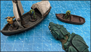 Depths of the Savage Atoll - Breaching Dragon Turtle 15mm 28mm 32mm 42mm Wargaming Terrain D&D, DnD, Pathfinder, SW Legion, Warhammer