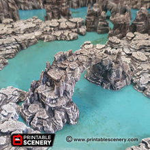 Load image into Gallery viewer, Clorehaven and the Goblin Grotto - Grotto Bridge 15mm 28mm 32mm Wargaming Terrain D&D, DnD, Pathfinder, SW Legion, Warhammer, 40k, Sigmar