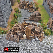 Load image into Gallery viewer, Barricades - 15mm 28mm 32mm Clorehaven and the Goblin Grotto Wargaming Terrain D&D, DnD, Pathfinder, SW Legion, Warhammer, 40k