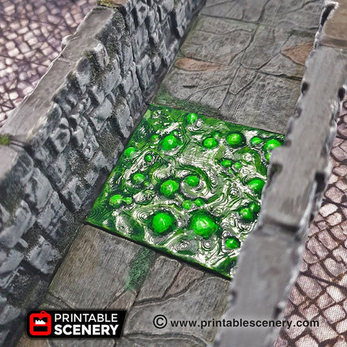 Deadly Floor Acid Trap - 28mm 32mm Clorehaven Goblin Grotto Wargaming Terrain Scatter D&D DnD Pathfinder Warhammer 40k