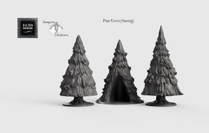 Snowy Pine Trees - 15mm 28mm 32mm Wilds of Wintertide Wargaming Terrain D&D, DnD, Pathfinder, SW Legion, Warhammer