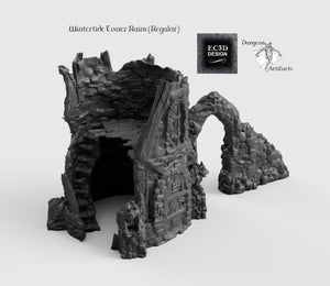 Wintertide Tower Ruins - 15mm 28mm 32mm Wilds Wargaming Terrain D&D, DnD, Pathfinder, SW Legion, Warhammer