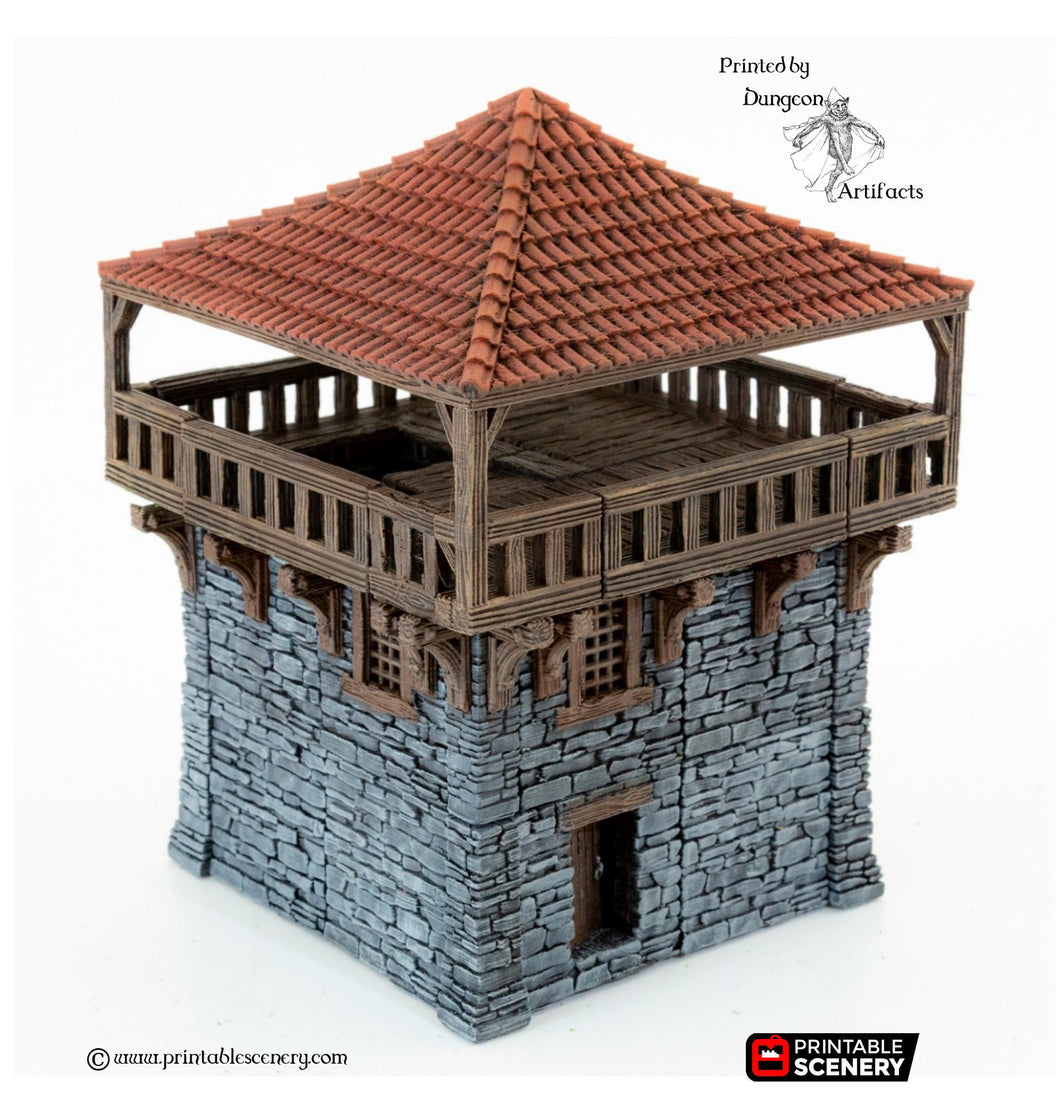 Clorehaven Watch Tower - 28mm 32mm Goblin Grotto Wargaming Terrain D&D, DnD, Pathfinder, SW Legion, Warhammer, 40k