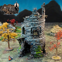 Load image into Gallery viewer, Ruined Rookery Tower 28mm 32mm Wightwood Abbey Wargaming Terrain D&D, DnD, Pathfinder, SW Legion, Warhammer 40k