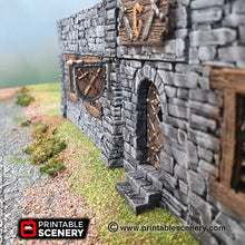 Load image into Gallery viewer, Hanging Signs - 28mm 32mm Clorehaven and Goblin Grotto Wargaming Terrain Scatter D&D, DnD, Pathfinder, Warhammer, 40k