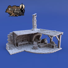 Load image into Gallery viewer, Smitty Blacksmith 28mm 32mm Wightwood Abbey Wargaming Terrain D&D, DnD, Pathfinder, SW Legion, Warhammer 40k